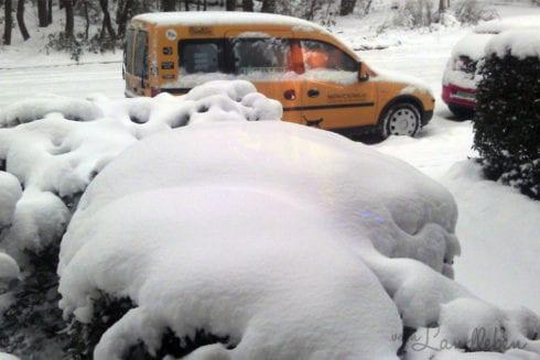 Schnee in Leverkusen