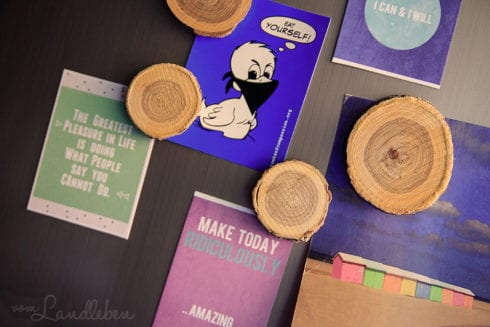 DIY: Holz-Magnete