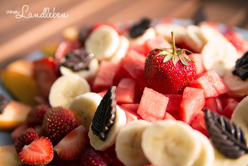 Sommer-Dessert: bunter Obstteller