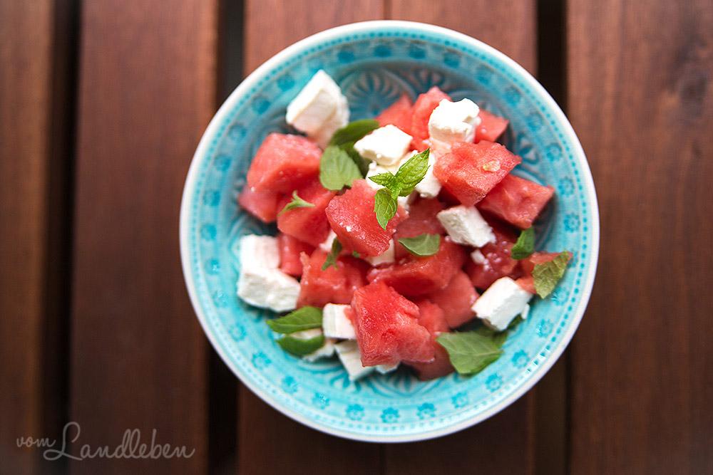 Rezept: Melonen-Feta-Salat