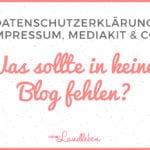 Infos, die auf keinem Blog fehlen sollten