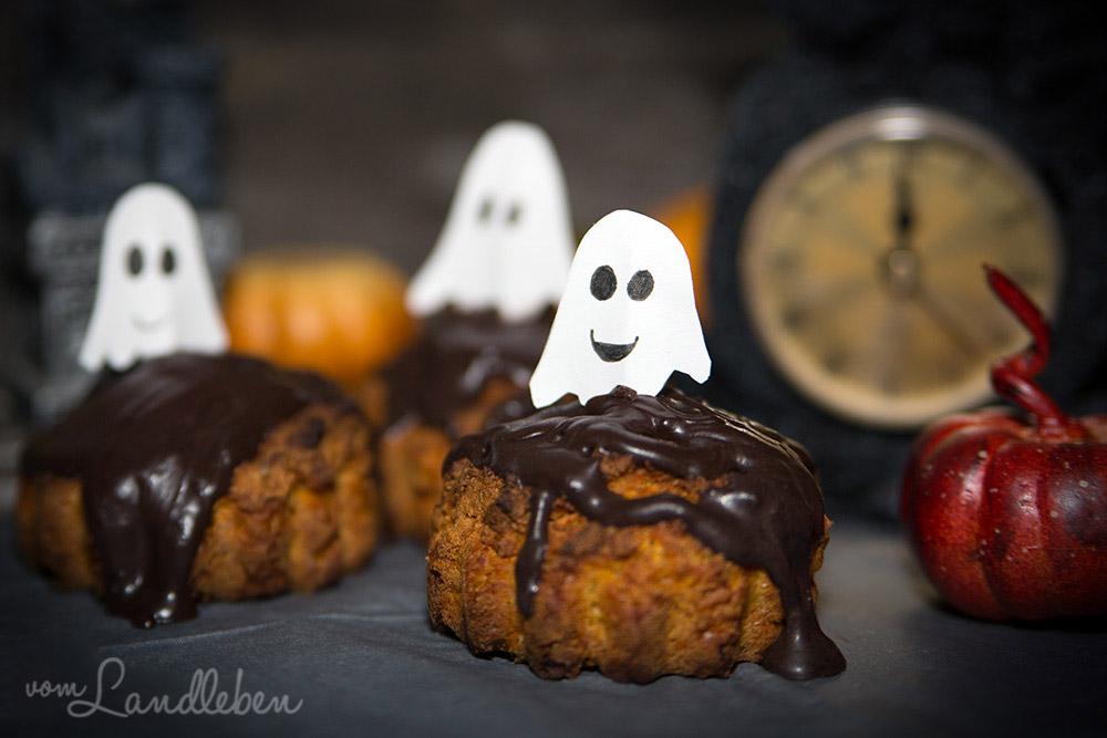 Halloween! Rezept: Vegane Kürbismuffins