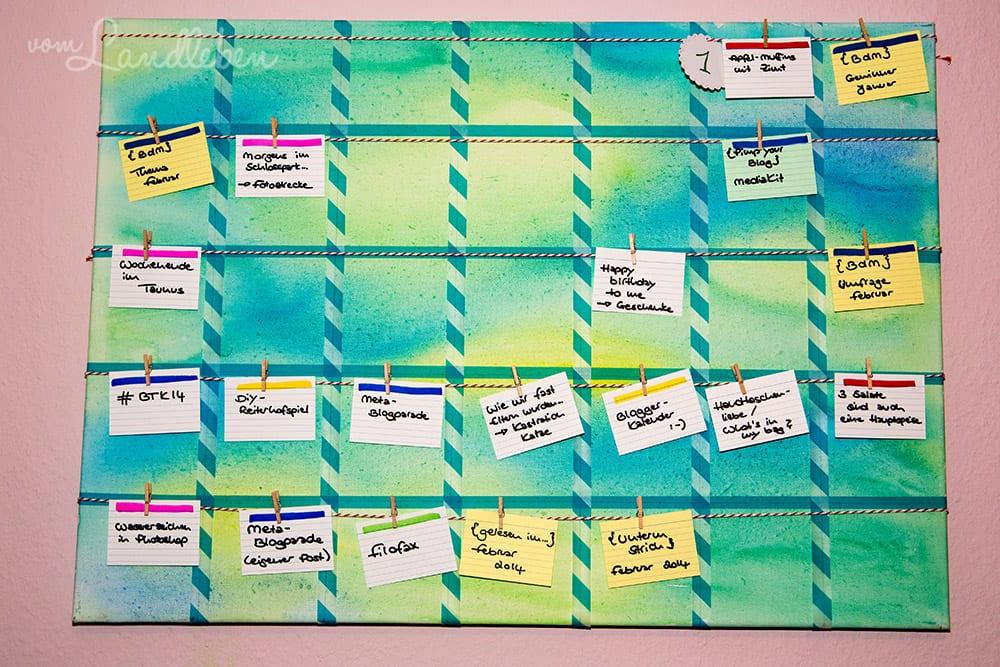 DIY-Blogkalender für die Wand