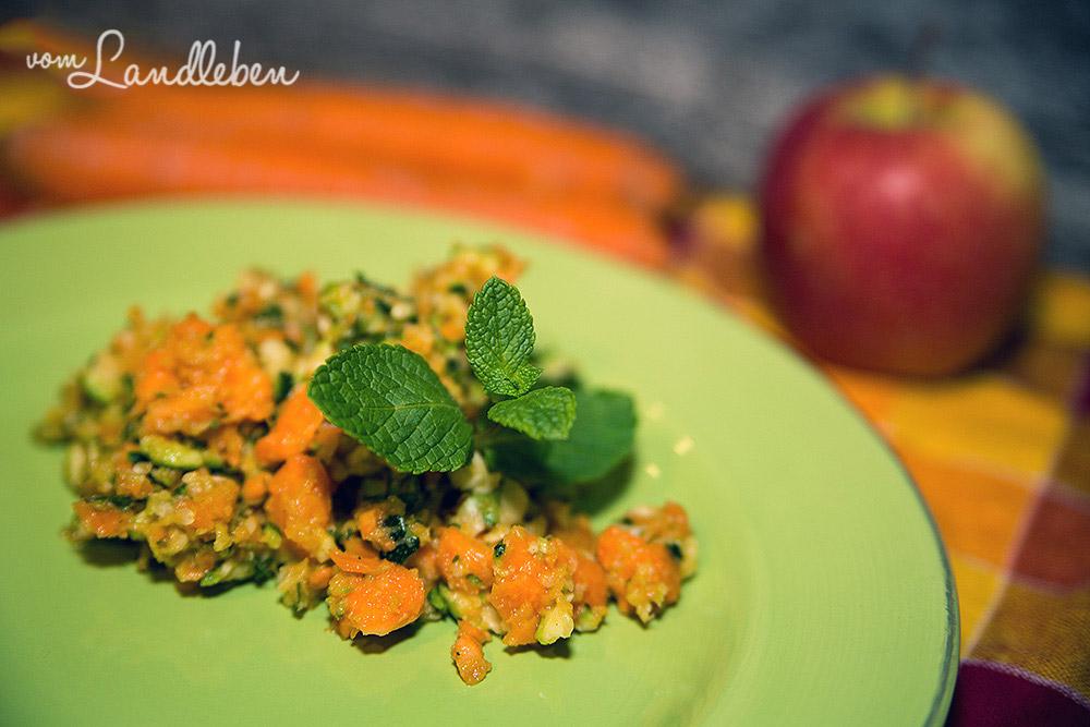 Rezept: Zucchini-Minz-Salat