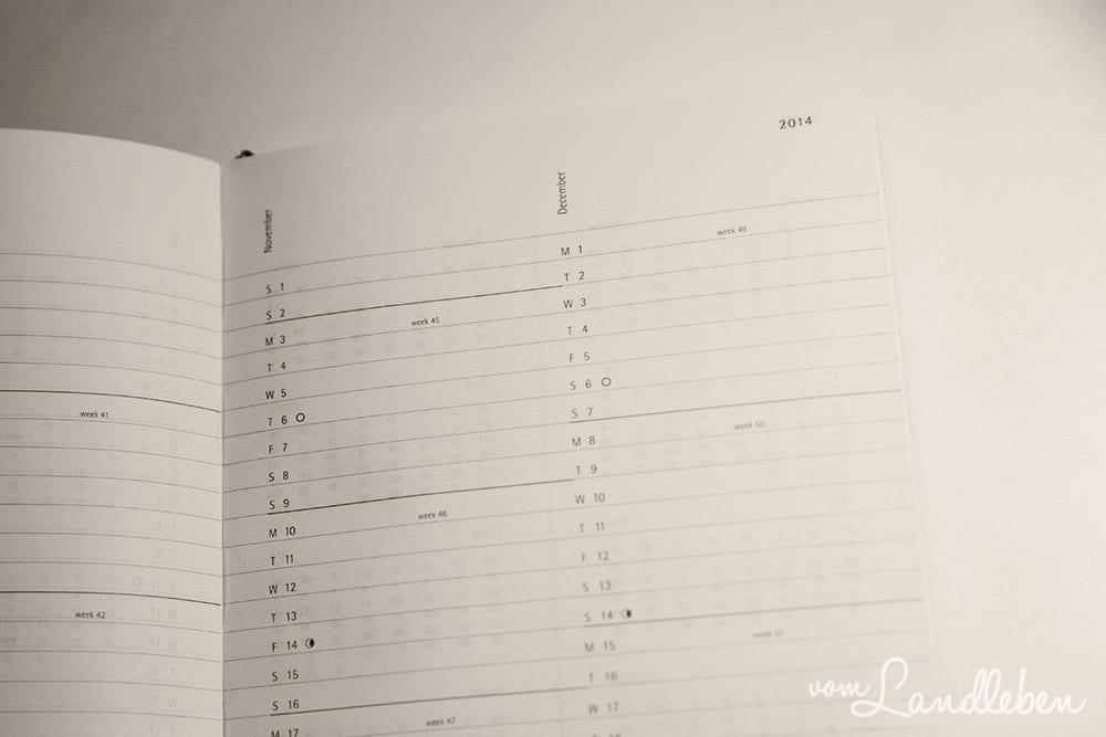 Kalender von Moleskine