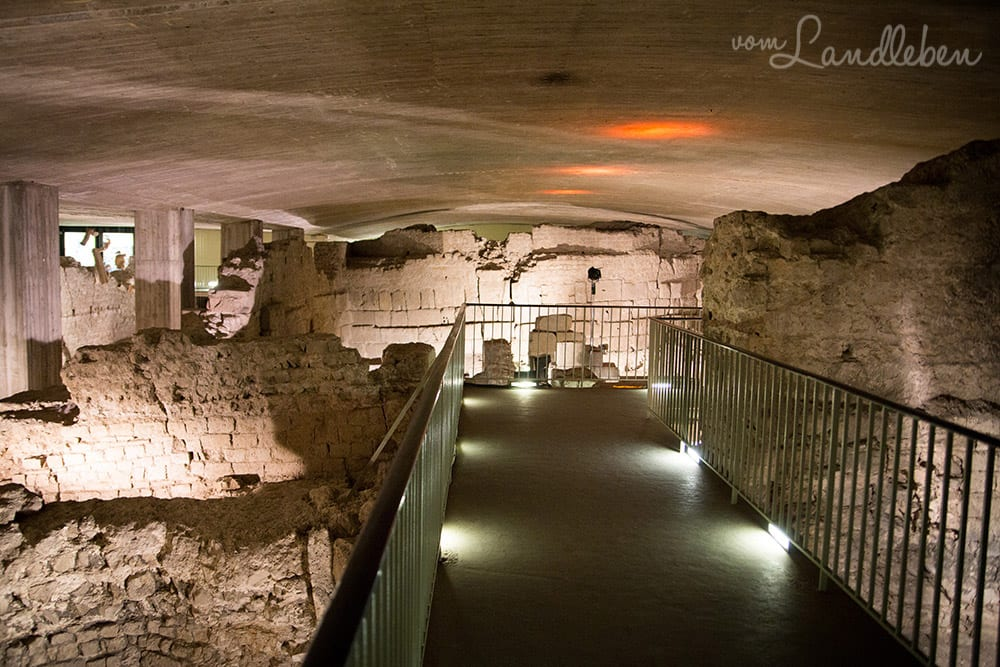 Ausgrabung des Prätoriums in der Archäologischen Zone