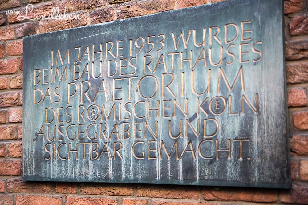 Prätorium in Köln