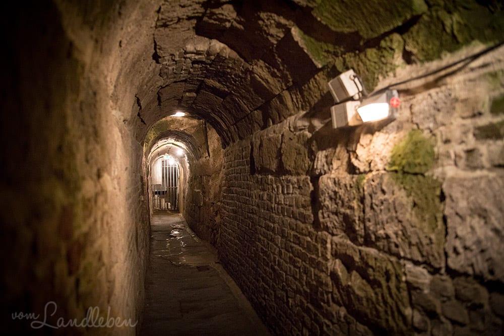 Im römischen Abwasserkanal