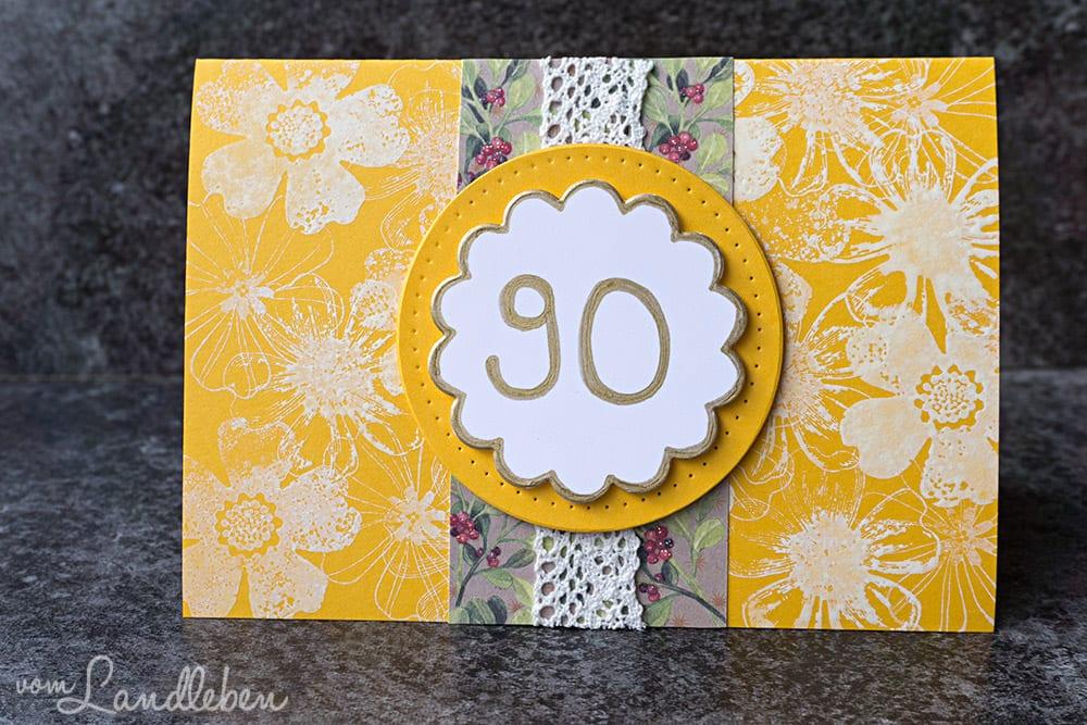 Geburtstagskarte f r einen 90 geburtstag vom landleben - Geburtstagsideen zum 90 ...