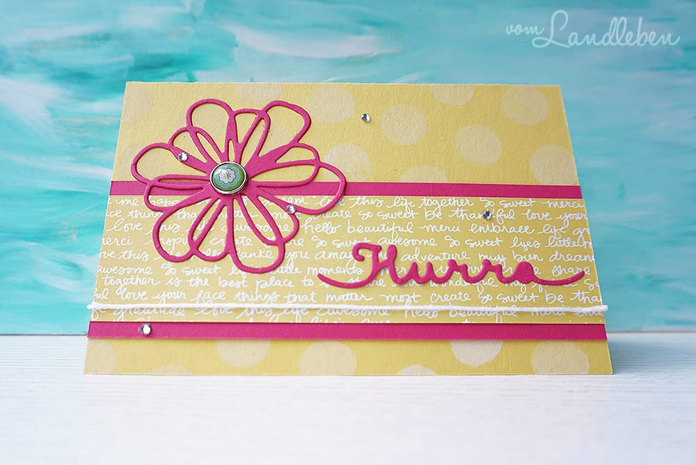 "Geburtstagskarte ""Hurra"""