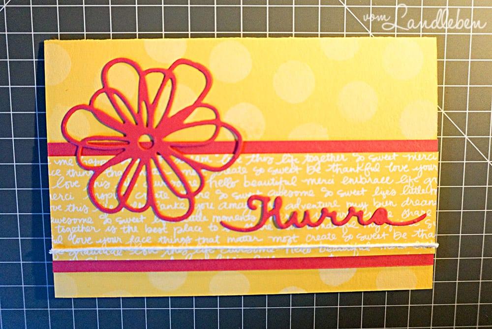 "Geburtstagskarte ""Hurra"" - Stampin Up!"