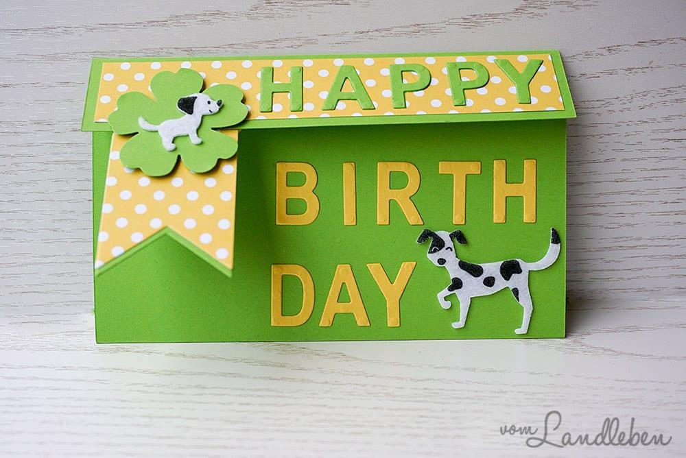 Geburtstagskarte mit Hund