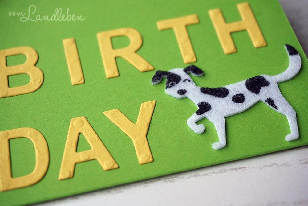 Geburtstagskarte für Hundefreunde - Stampin Up!