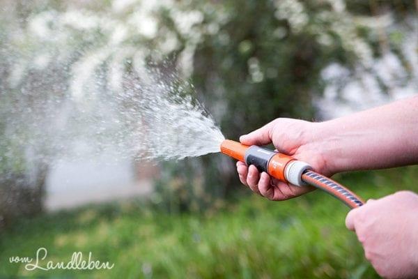 Gießen mit dem Gartenschlauch