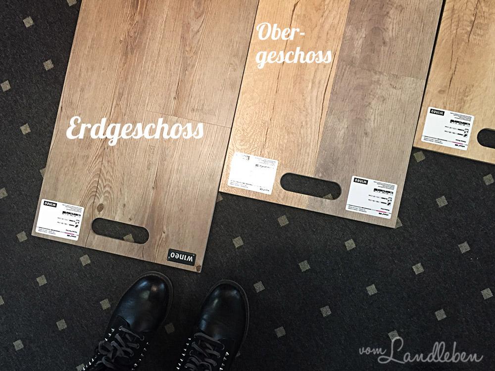 Vinylboden ausgesucht - Projekt Hausbau