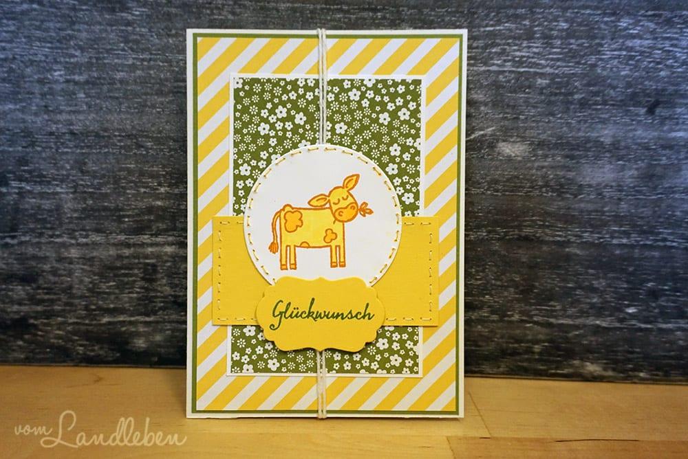 DIY-Geburtstagskarte mit Kuh - Stampin' Up!