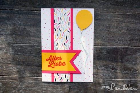 Geburtstagskarte mit Luftballon - Stampin' Up!