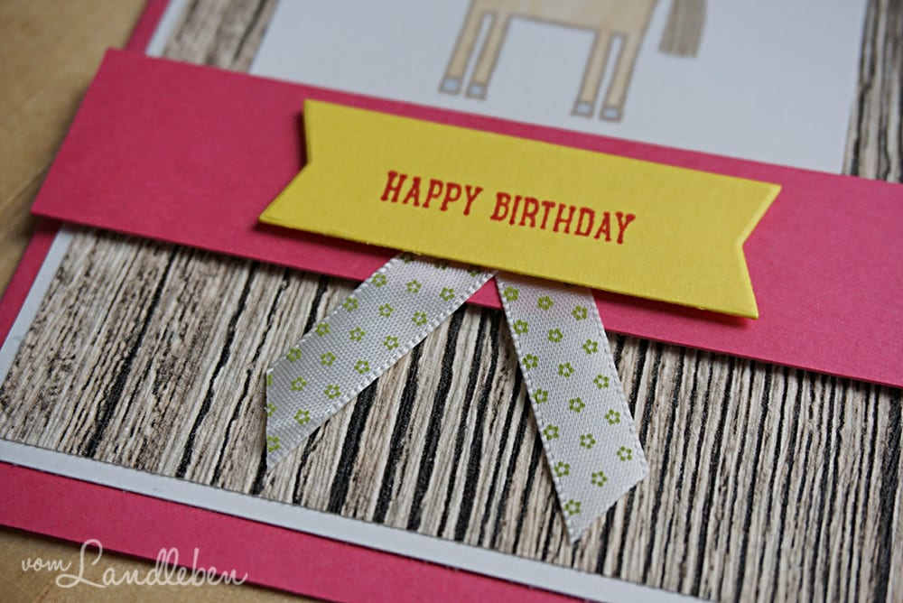 Geburtstagskarte mit Stampin' Up! - Barnyard Babies