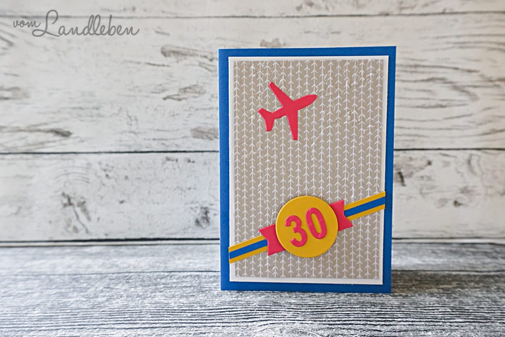 Selbstgebastelte Geburtstagskarte – Reisen