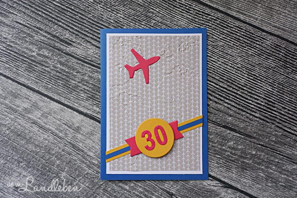 Selbstgebastelte Geburtstagskarte - Reisen