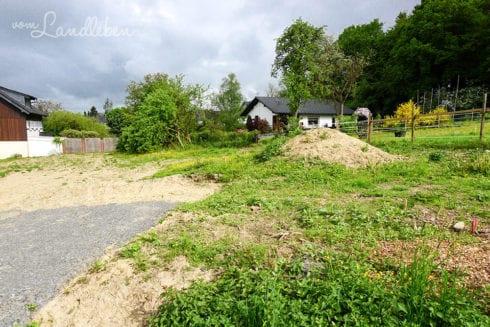 Unser Grundstück im Mai 2016