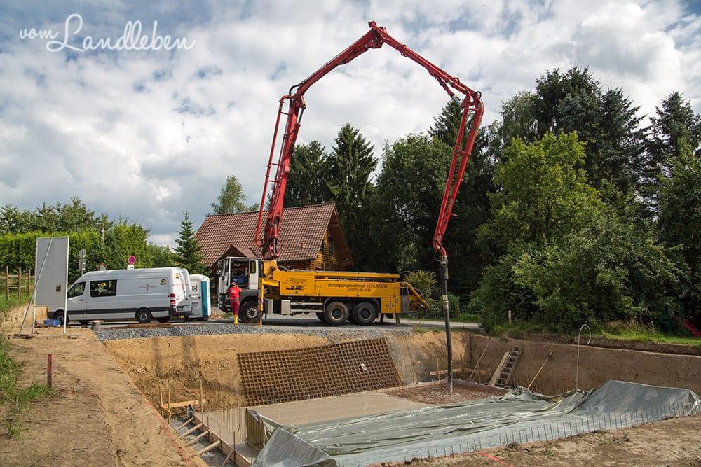 Kellerbau mit glatthaar – Projekt Hausbau
