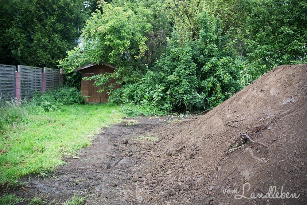 Erdarbeiten - Baugrube - Juli 2016