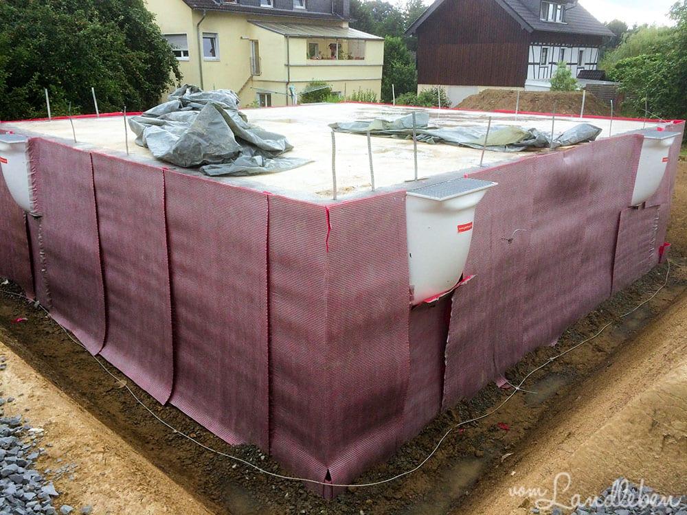 Kellerbau mit glatthaar - Abdichtung
