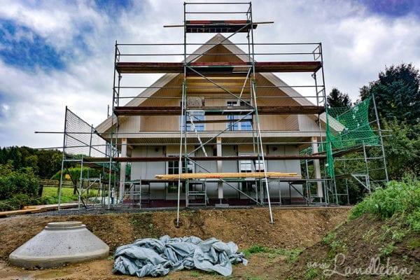 Hausbau mit Danhaus - unsere Baustelle im Oktober 2016