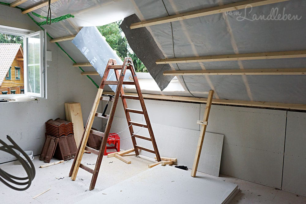 Hier entsteht das Dachflächenfenster im Schlafzimmer