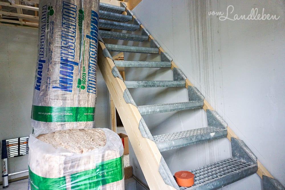 Hausbau mit Danhaus: Bautreppe