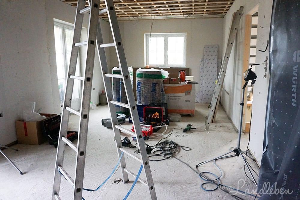 Hausbau mit Danhaus: 2. Montagetermin Elektro & Sanitär