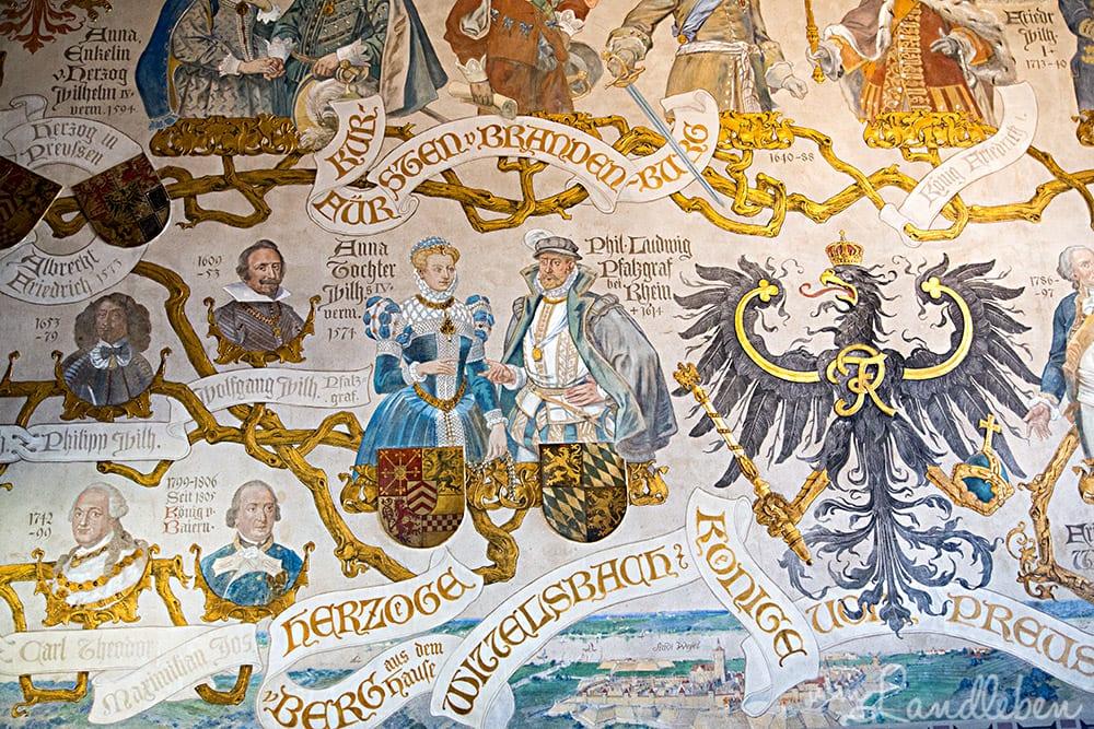 Wandgemälde auf Schloss Burg