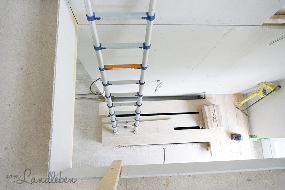 Die Leiter ins Dachgeschoss