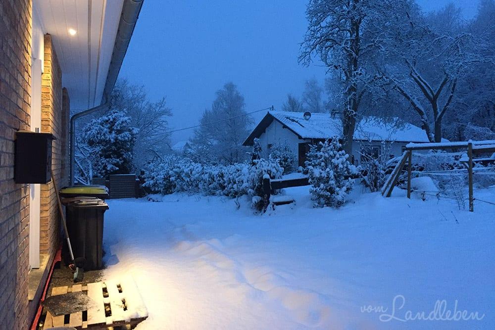 Unser Danhaus im Schnee