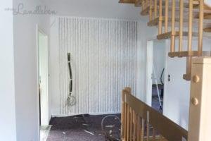 Blick von der Haustür auf die Garderobe