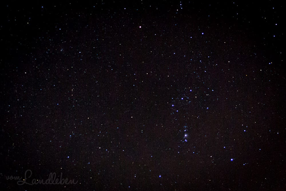 Sternenhimmel: Orion