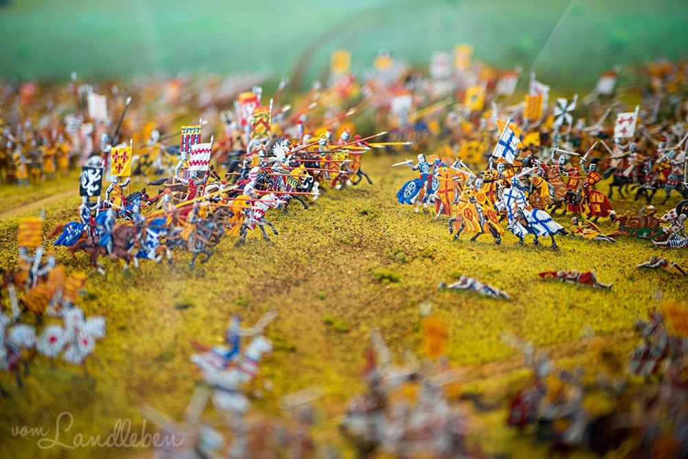 Museum von Schloss Burg: die Schlacht von Worringen