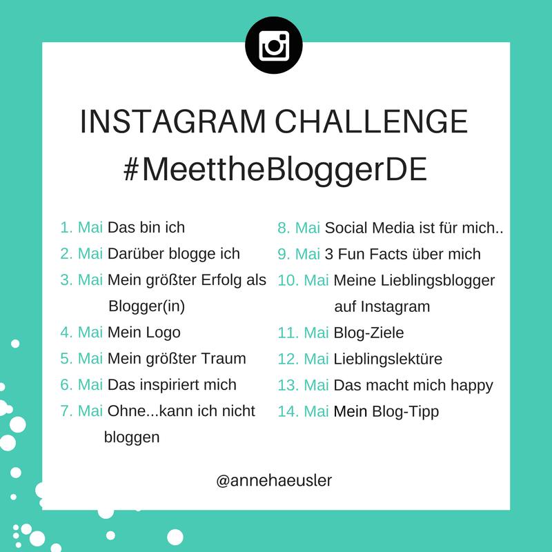 #MeettheBloggerDE - Instagram-Challenge 2017