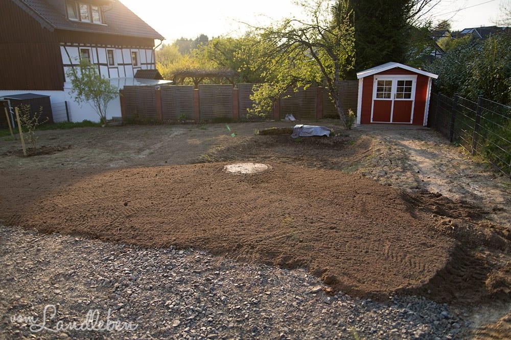 Vorbereitung für den Rasen