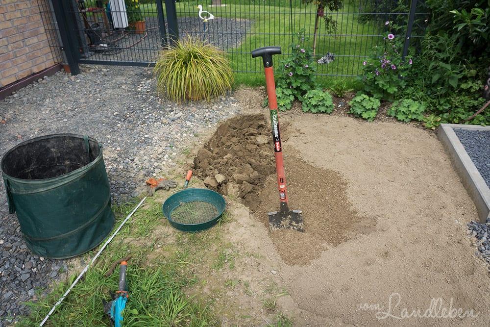 Die Urbarmachung des Mittelgartens