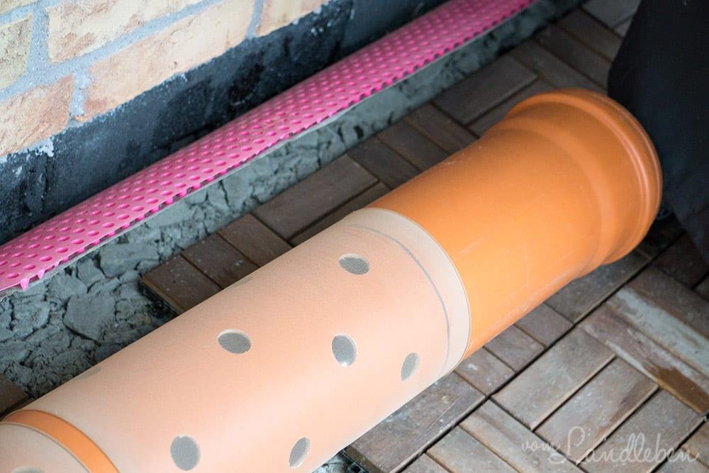 Rohrkonstruktion für die Zisternen-Pumpe