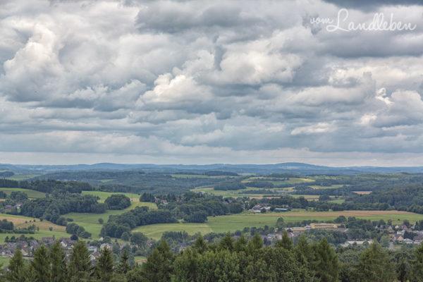 Bergisches Land - Panorama von Panarbora aus