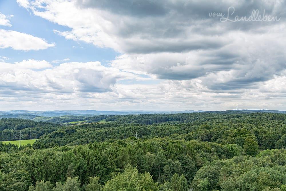 Panorama über das Bergische Land von Panarbora in Waldbröl