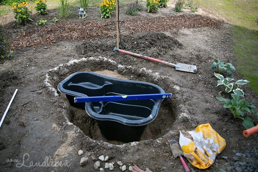 Wir bauen einen Gartenteich