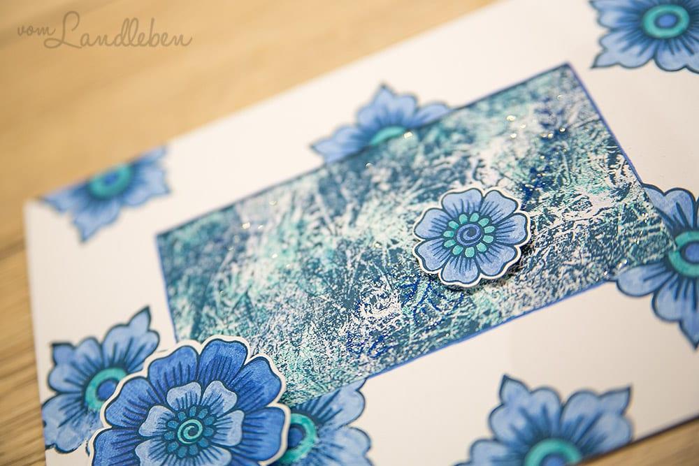 Kartengebastel – Hennah Elements in blau