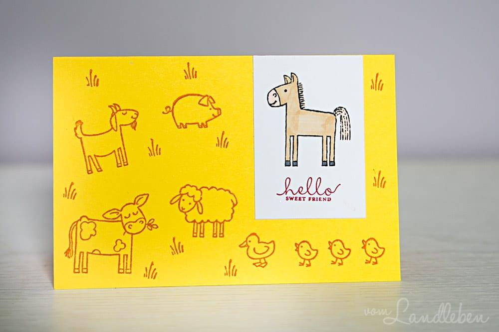 DIY-Karte mit Pferd