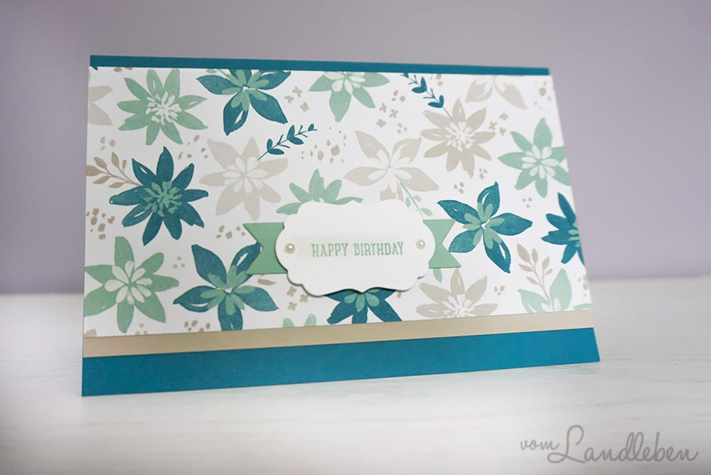 DIY-Geburtstagskarte – Happy Birthday mit Stampin' Up!