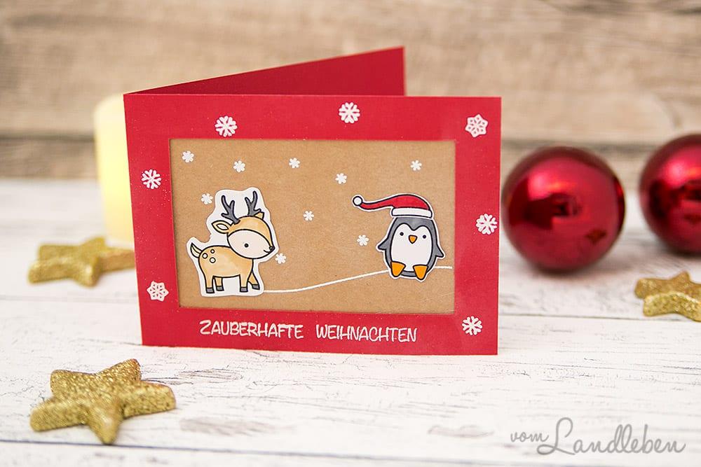 Selbstgebastelte Weihnachtskarte