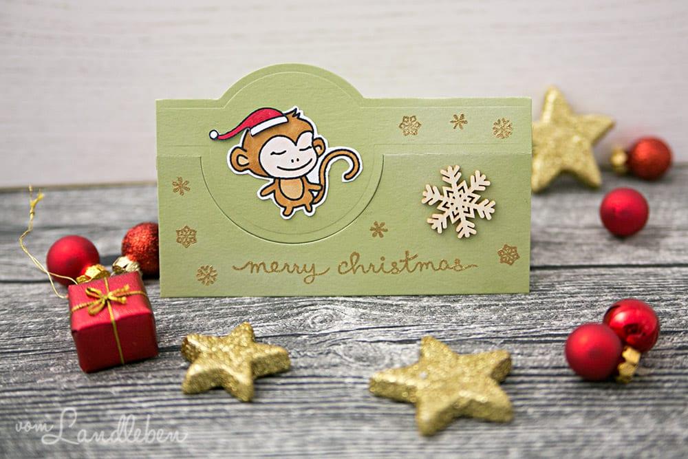 Selbstgebastelte Weihnachtskarte – Willy & Friends